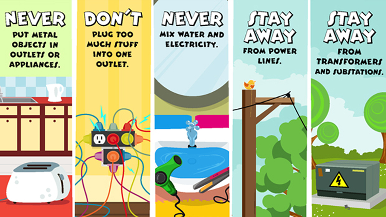 Electrical clipart safety rule Kids  round task electrical