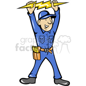 Electrical clipart thunderbolt Vector clip 388268 thunderbolt electrician