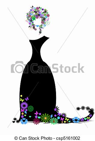Elegance  clipart  dress of elegant Illustration