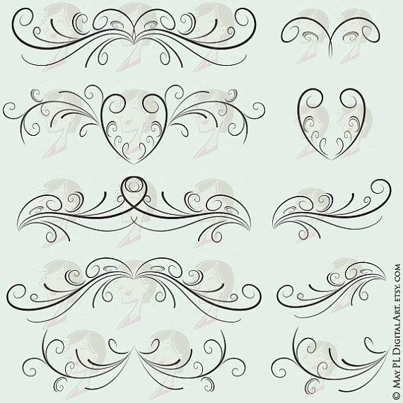 Curl clipart design pattern Headpiece Border Elements Headpiece Design