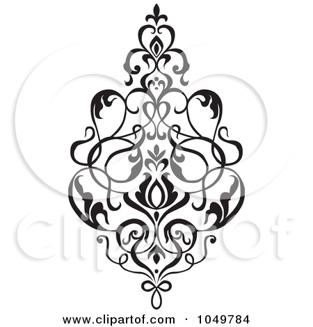 Damask clipart elegant scroll Black Posters Design 2 Design
