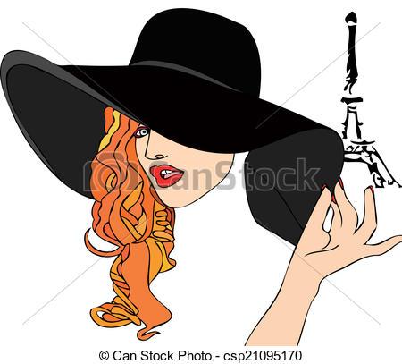 Elegance  clipart elegant woman Eiffel Elegance very Tower Illustration