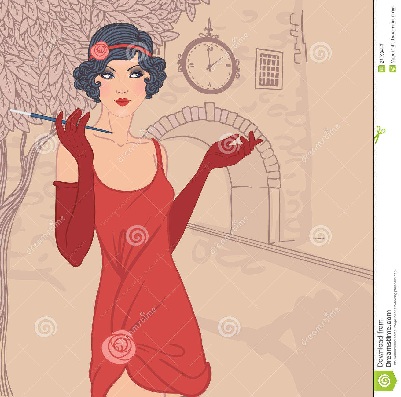 Elegance  clipart flapper Million High Woman 32 In1920s