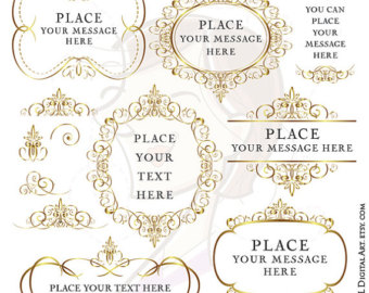 Elegance  clipart frame All to Your buy Gold