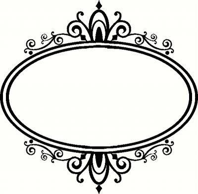 Elegance  clipart frame Frame Black&White B images on