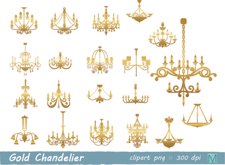 Chandelier clipart gold chandelier Gold Art PNG images Clip