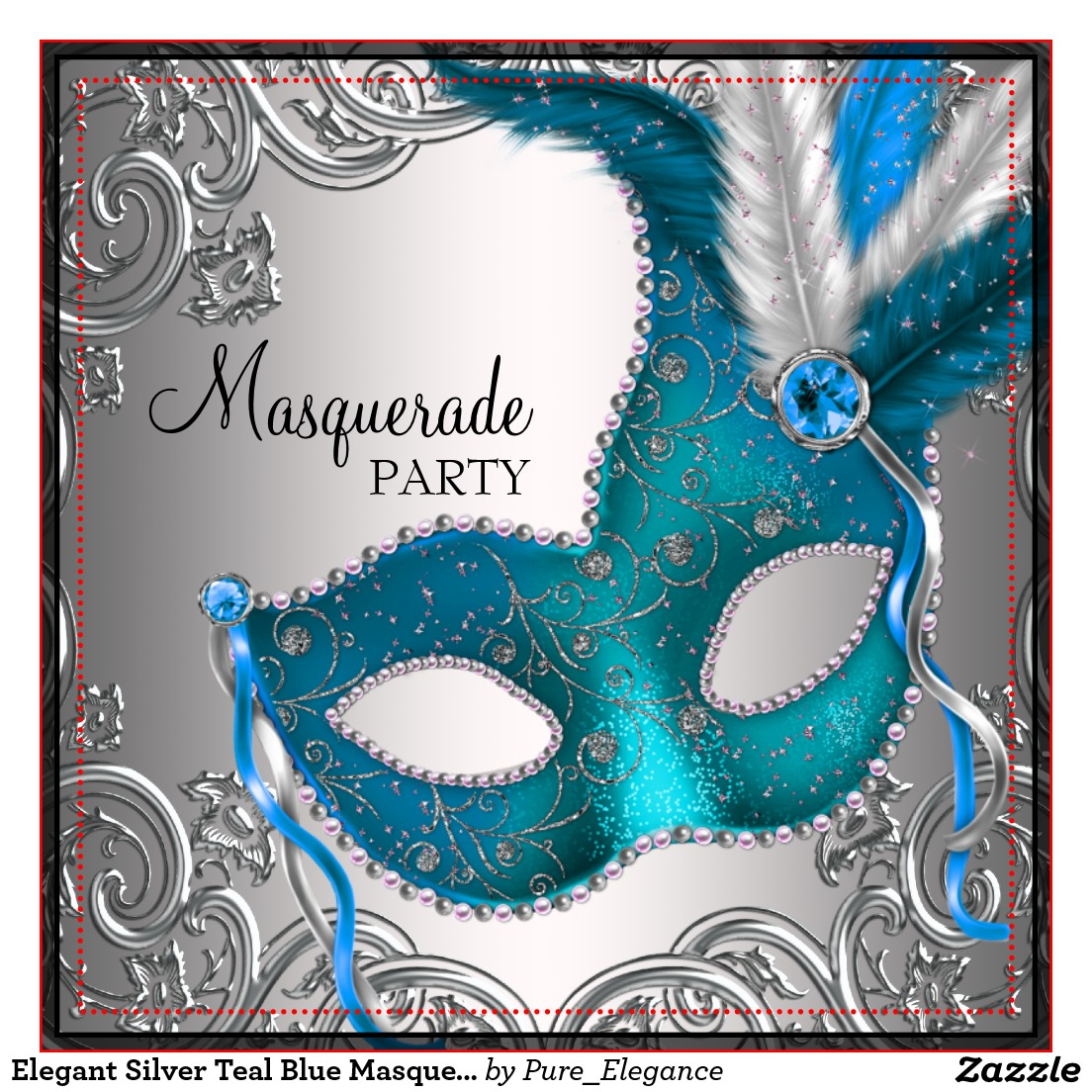 Elegance  clipart party Invitations Masquerade Birthday Clipart Party