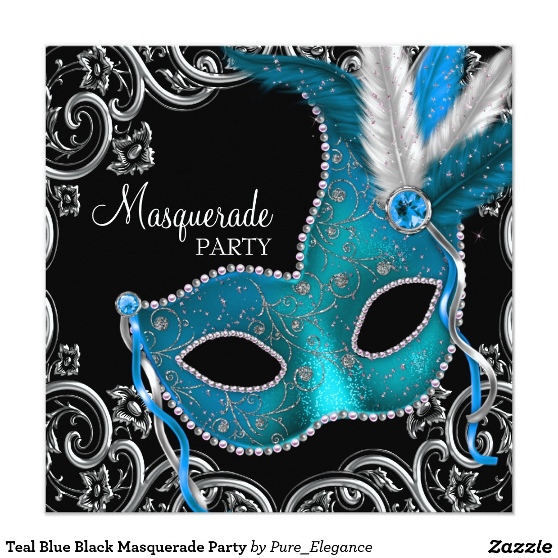 Elegance  clipart party Masquerade Party Clipart Invitation Venetian