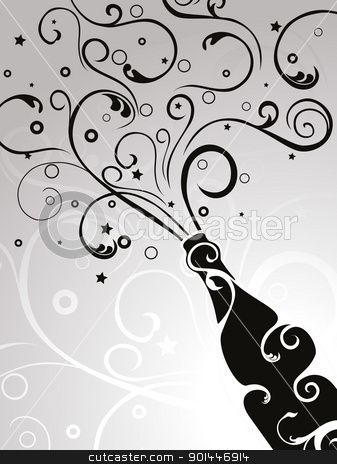 Elegance  clipart party Best vector stock seamless champagne