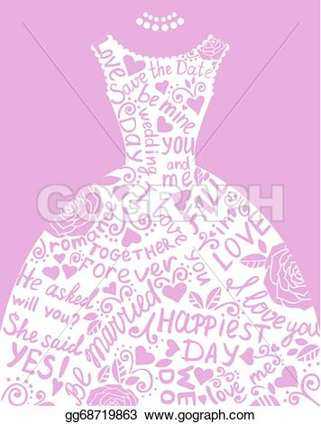 Elegance  clipart pretty dress With with gg68719863 invitation illustration