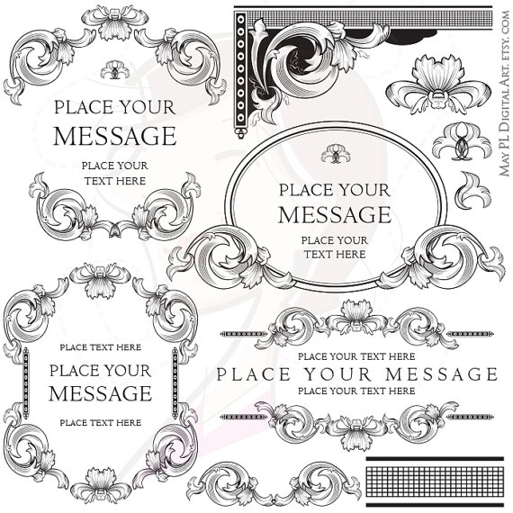 Elegance  clipart prom dress Clipart Graphic Border Designs Ornaments