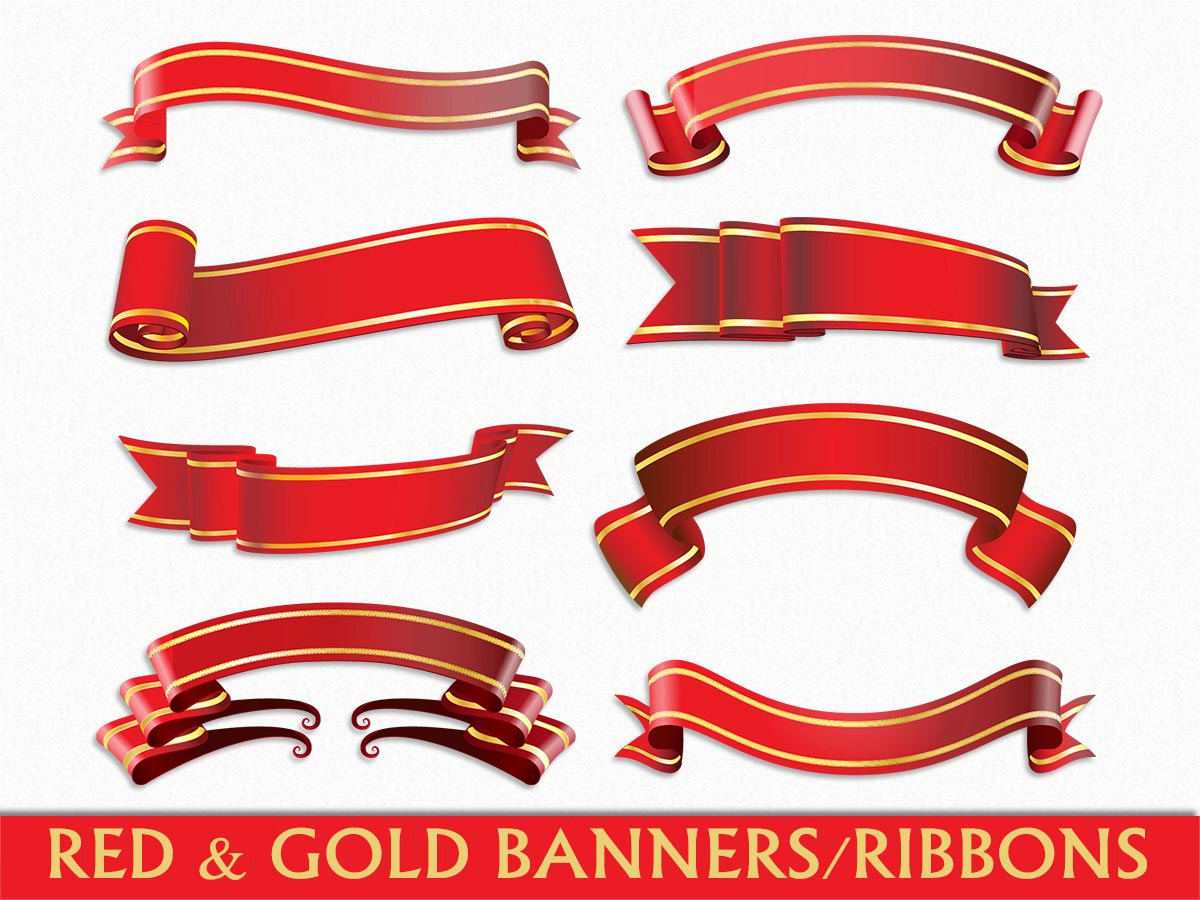 Elegance  clipart ribbon scroll Clip Gold Banners Anniversary clipart
