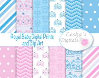 Elegance  clipart royal baby Crown clipart paper digital and