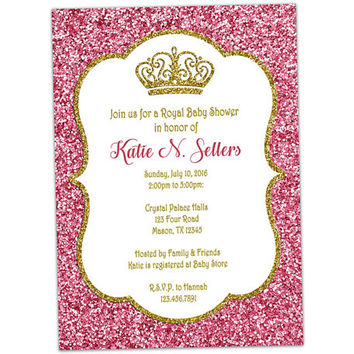 Elegance  clipart royal baby Best Shower Gold and Invitation