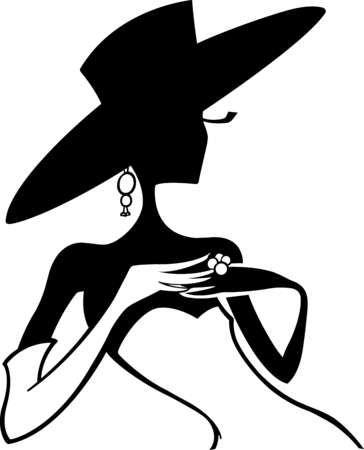 Elegance  clipart sophisticated lady Pinterest Silhouettes Stencils elegant silhouette: