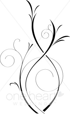 Elegance  clipart vine leaves Wedding Art Flourish Clip Art