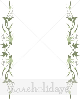 Elegance  clipart vine leaves Leaves Elegant Sides Leaves Borders