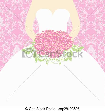 Elegance  clipart vintage wedding dress Clip Art retro ornate Vector