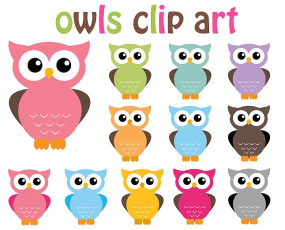 Owlet clipart pink and brown And designing for more design