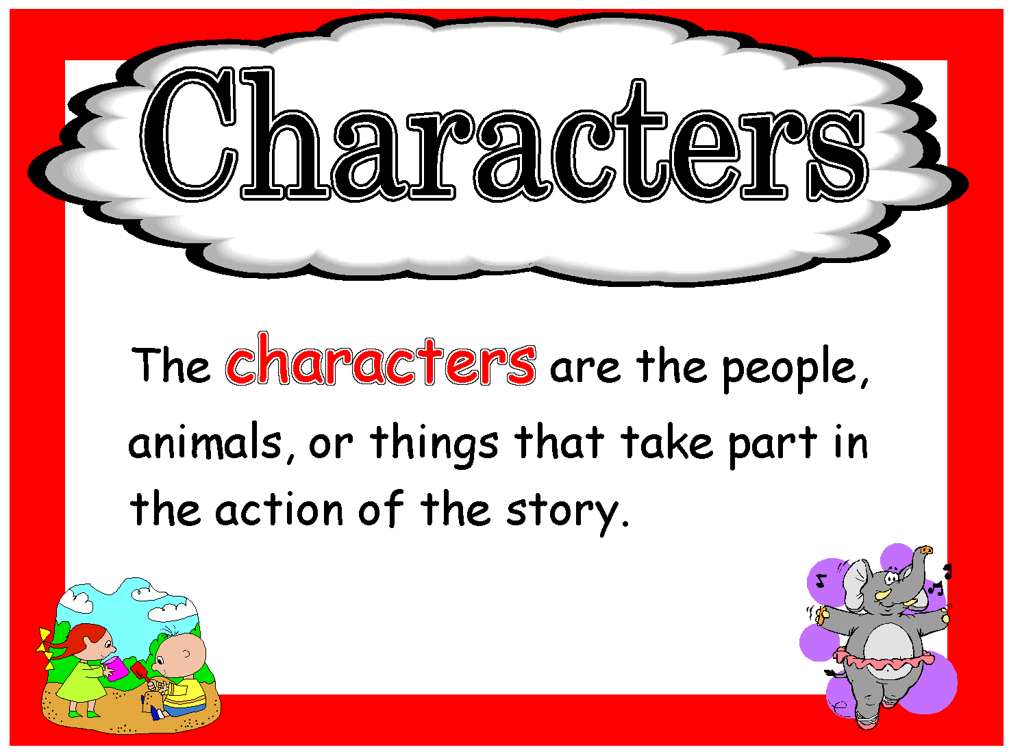 Elements clipart character story #8