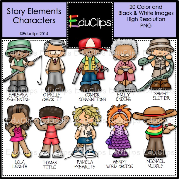 Elements clipart character story #3