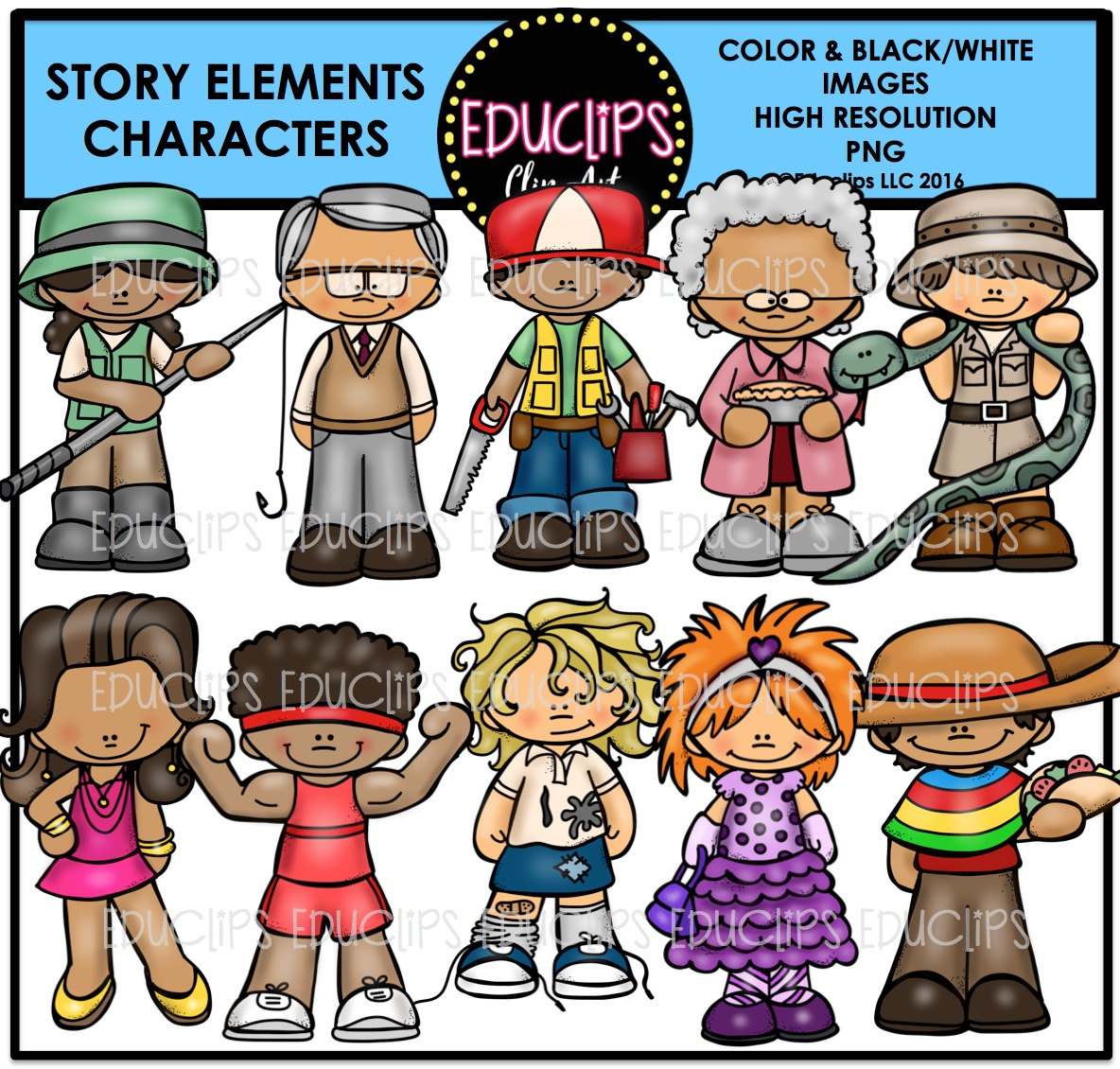 Elements clipart character story #4