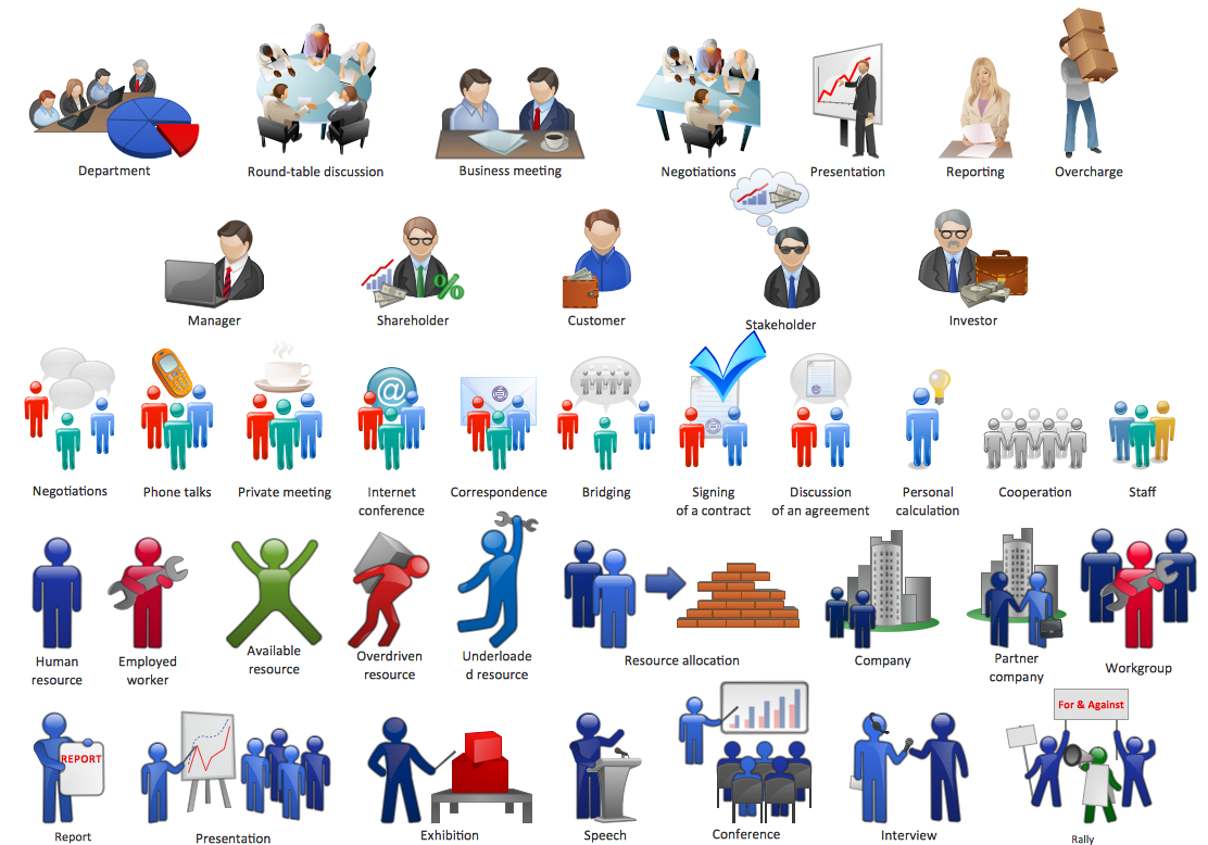Professional clipart business collaboration Elements Business and com ConceptDraw