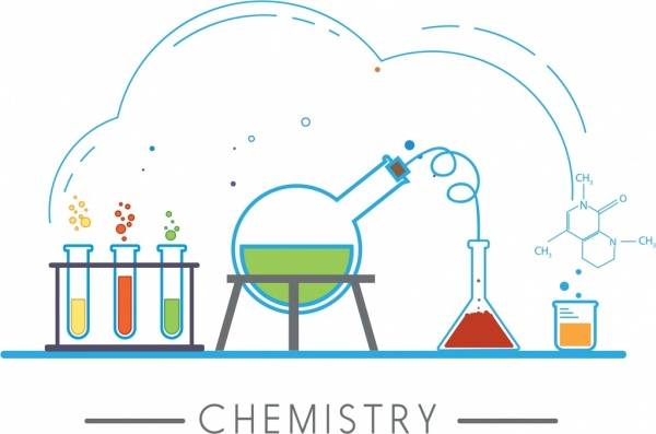 Element clipart chemistry experiment Commercial lab vector) sketch for