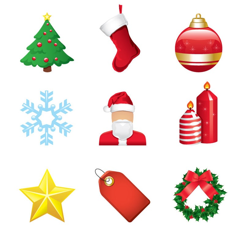 Element clipart christmas element Icon Vector Web Free Christmas