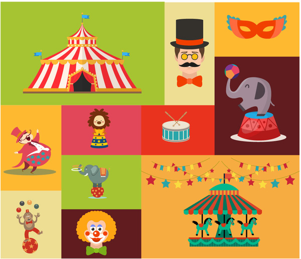 Element clipart circus Free styles elements Circus