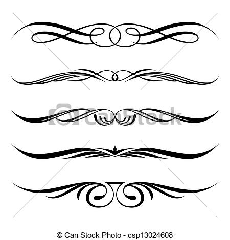 Elements clipart decorative Page elements and Vector rules