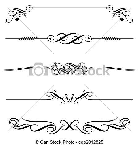 Decoration clipart art file Vector Decoration Horizontal Vector file
