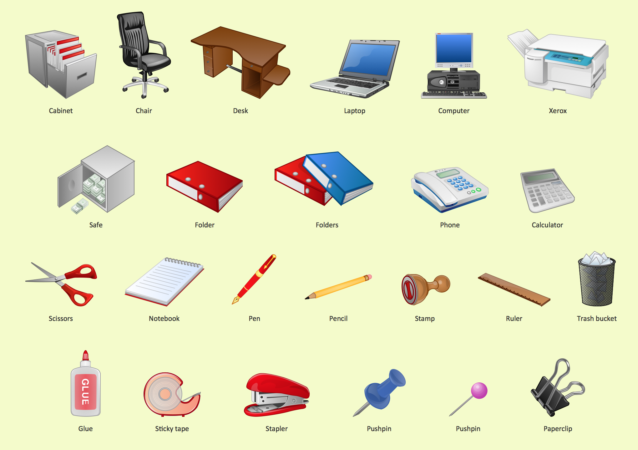 Notebook clipart office equipment Office design Design element Design
