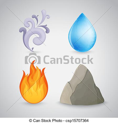 Elements clipart fire and water Csp15707364 Four and Four earth