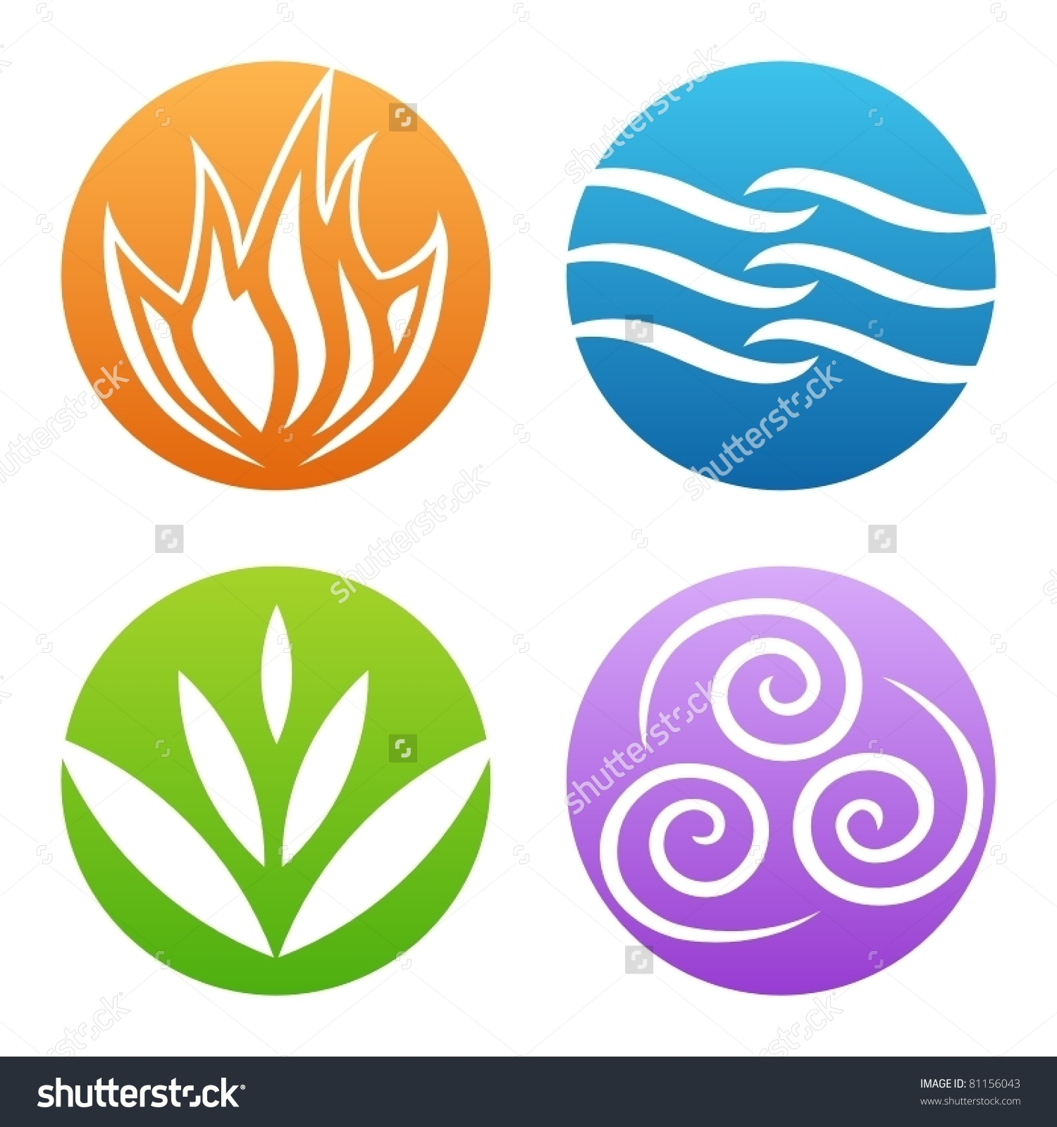 Elements clipart air Vectors Four Shutterstock Water Stock