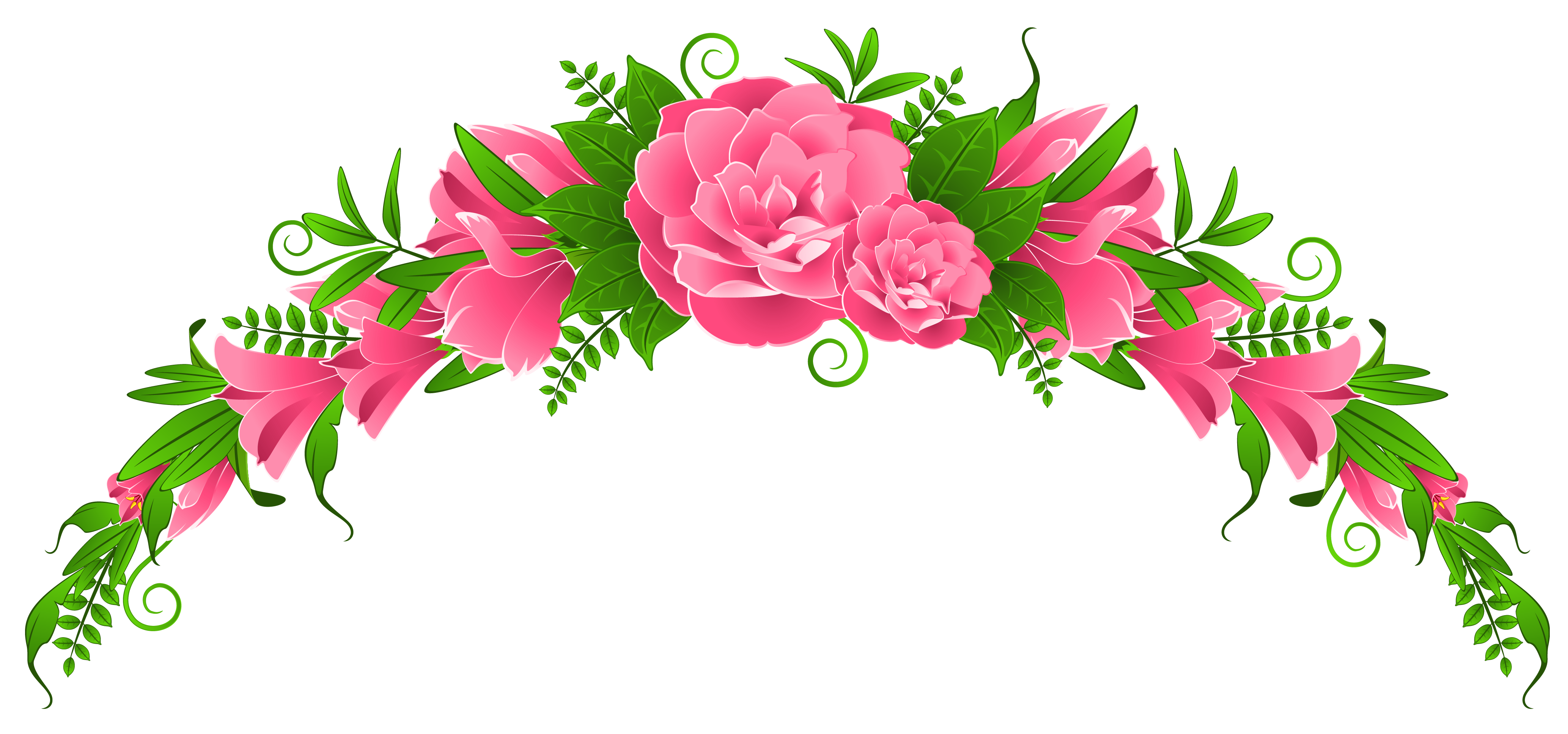 Floral clipart pink flower Roses and PNG Clipart Clipart