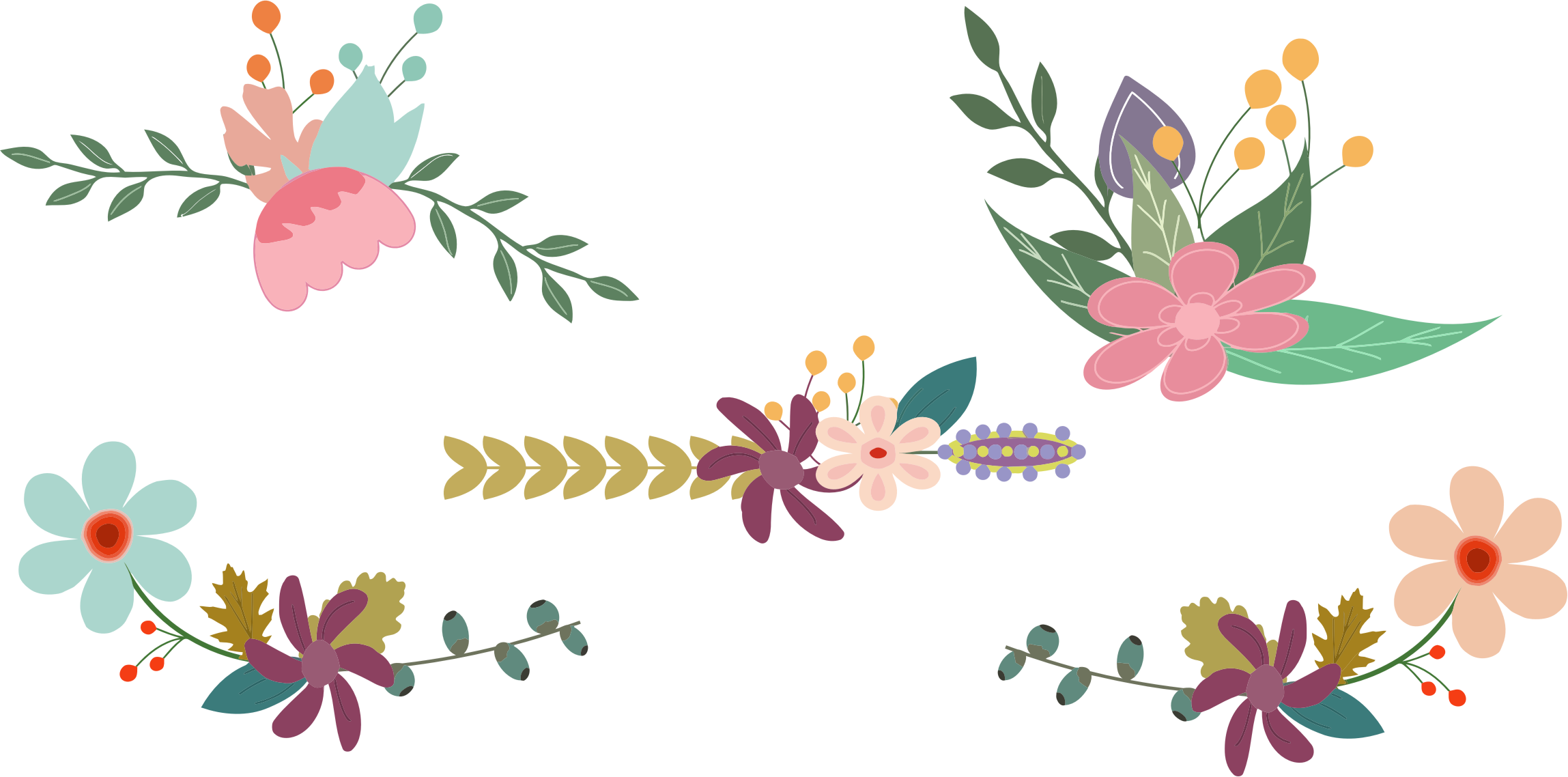 Elements clipart floral Clipart Floral Vintage Elements Elements