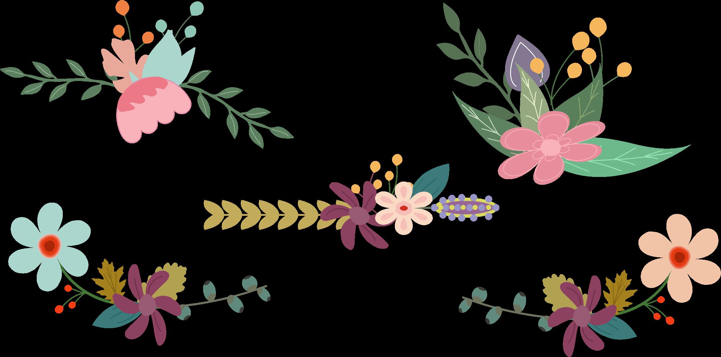 Elements clipart floral Floral Elements Vintage Floral Elements