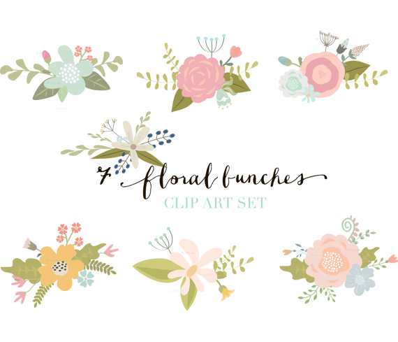 Elements clipart floral Art Flower Digital Flower ClipArt