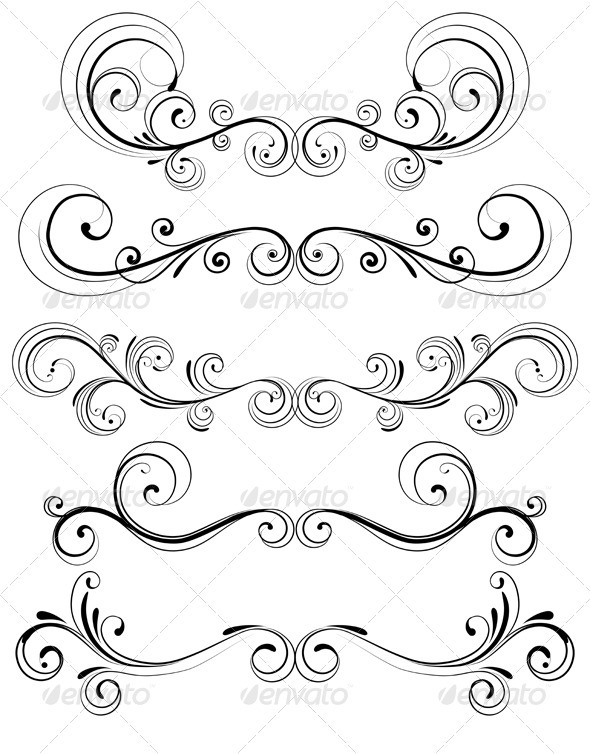 Elemental clipart science symbol Decorative Floral frame Elements Decorative