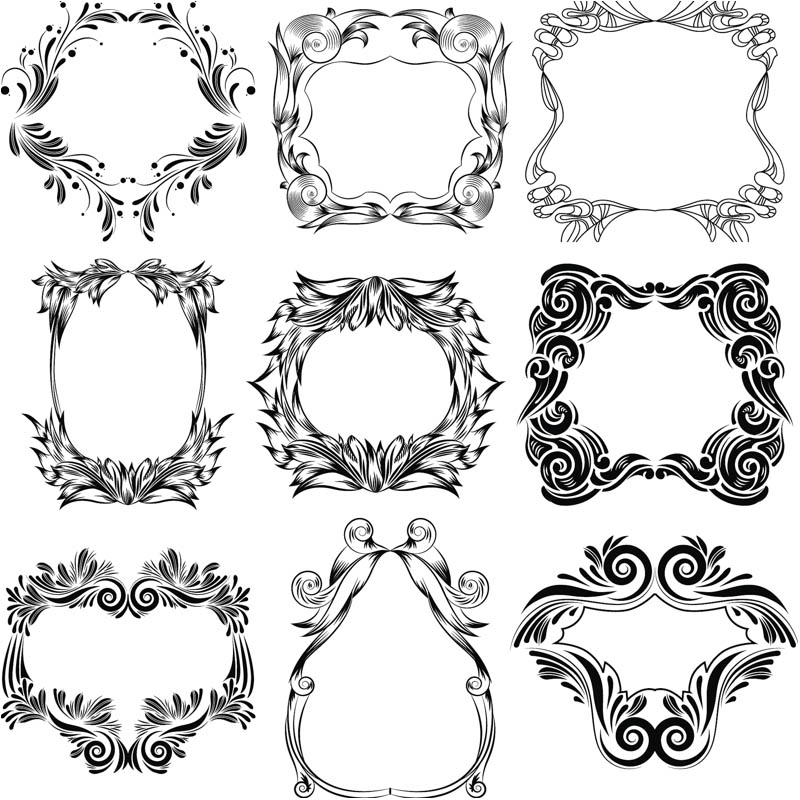 Floral clipart ornamental Floral free clipart Vector Blog