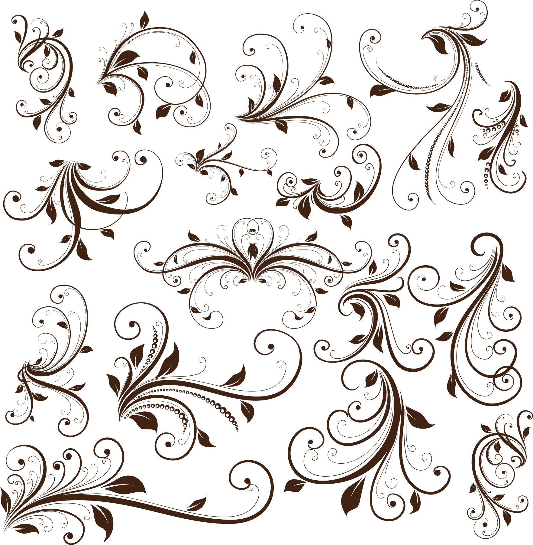 Element clipart floral decoration Vector Graphic Floral ART Vector
