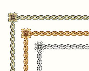 Element clipart gold decorative line Design Vector black vertical twisted