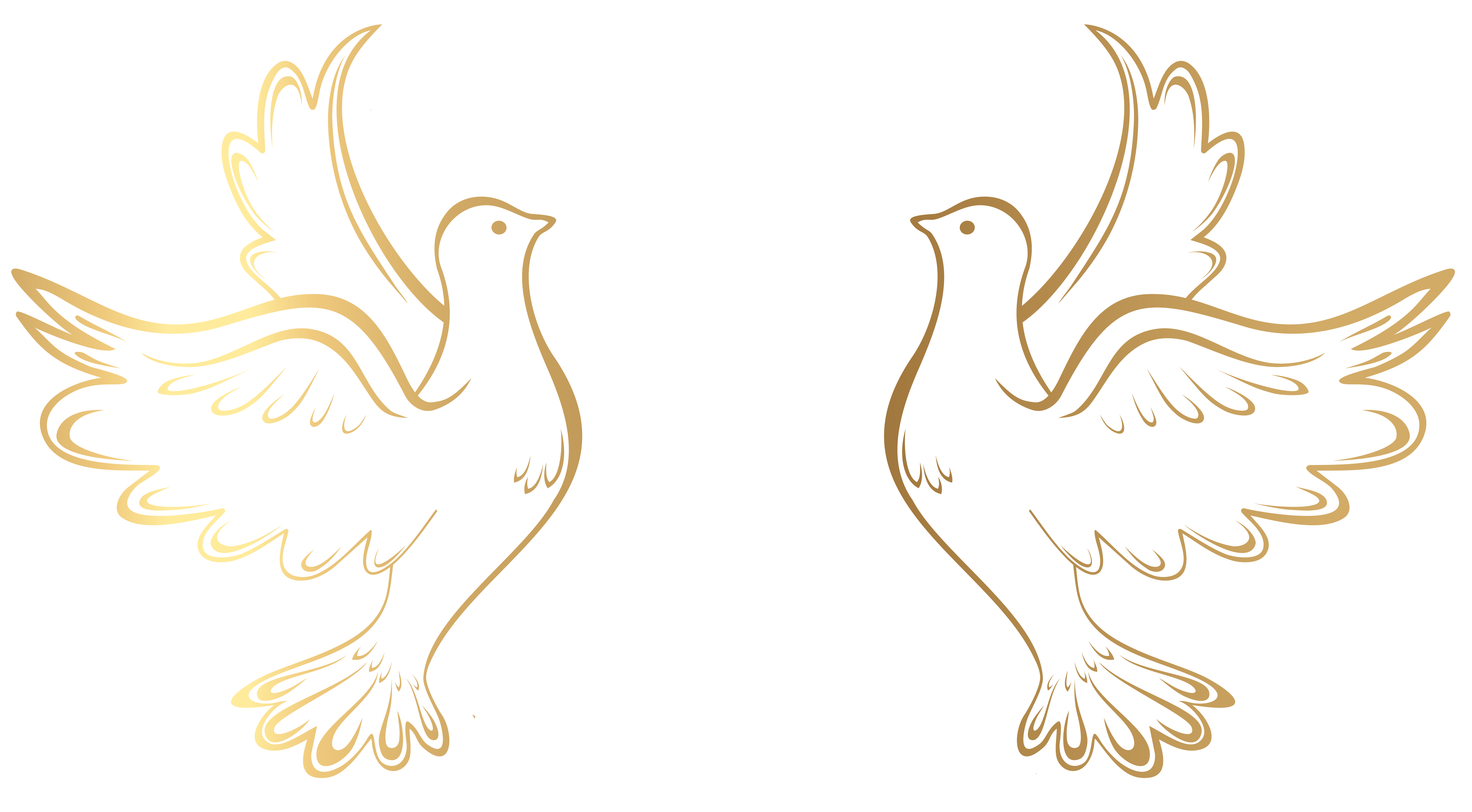 Element clipart gold decorative line Image  Doves full View