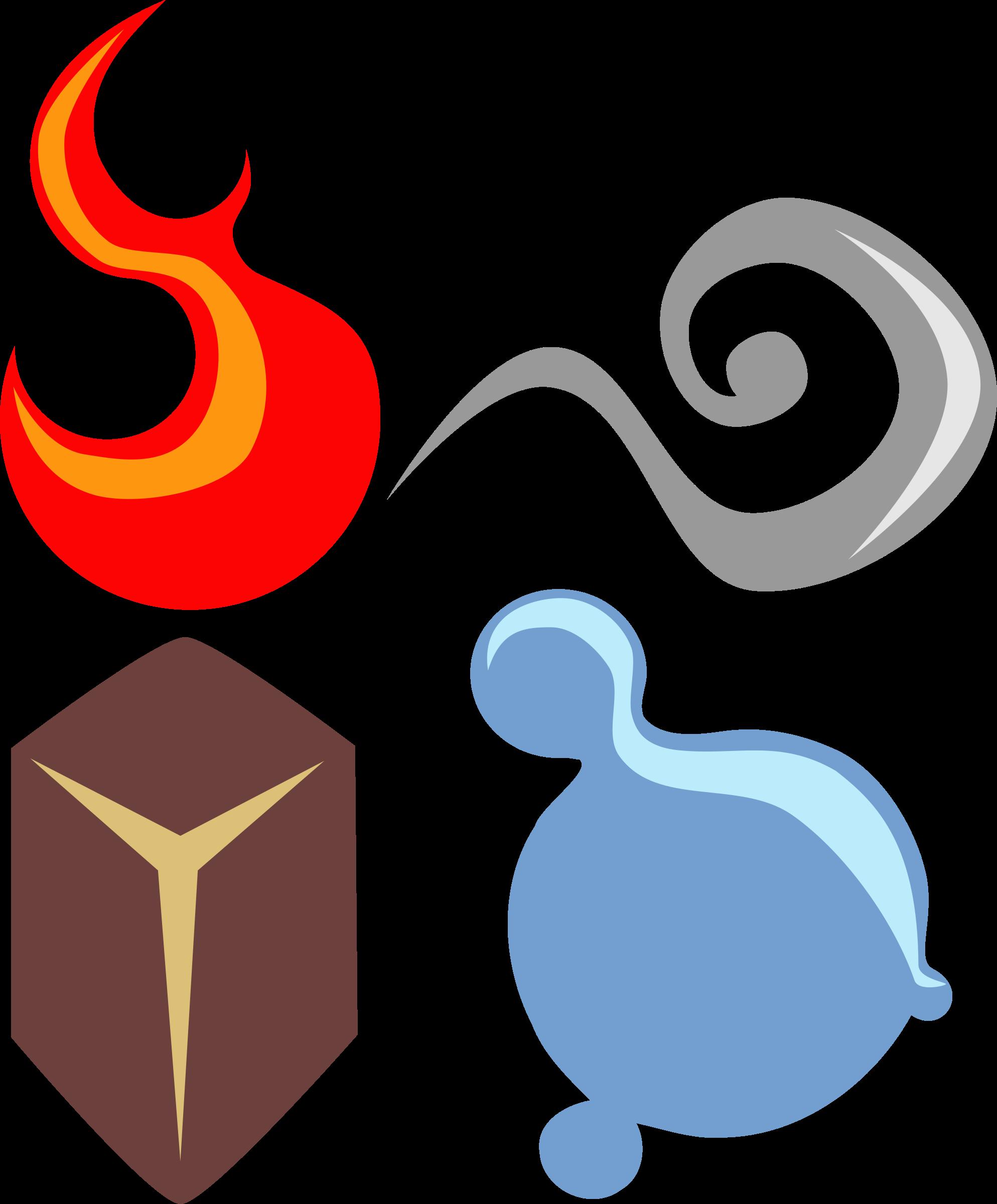 Elements clipart transparent Four symbolic elements Clipart four