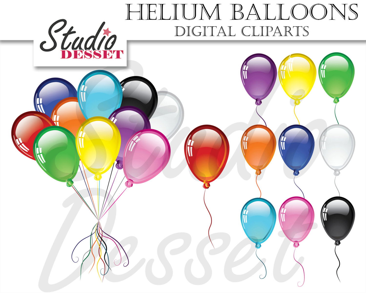 Element clipart helium Colorful file a Balloons Art