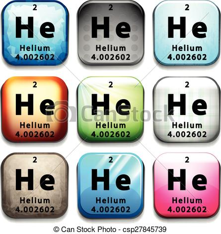 Element clipart helium Showing white chemical  showing