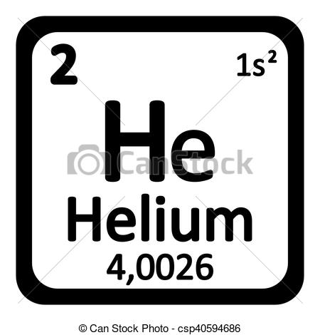 Element clipart helium  table Vector icon element