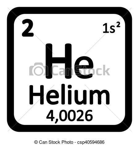 Element clipart helium Icon icon element csp40594686 helium