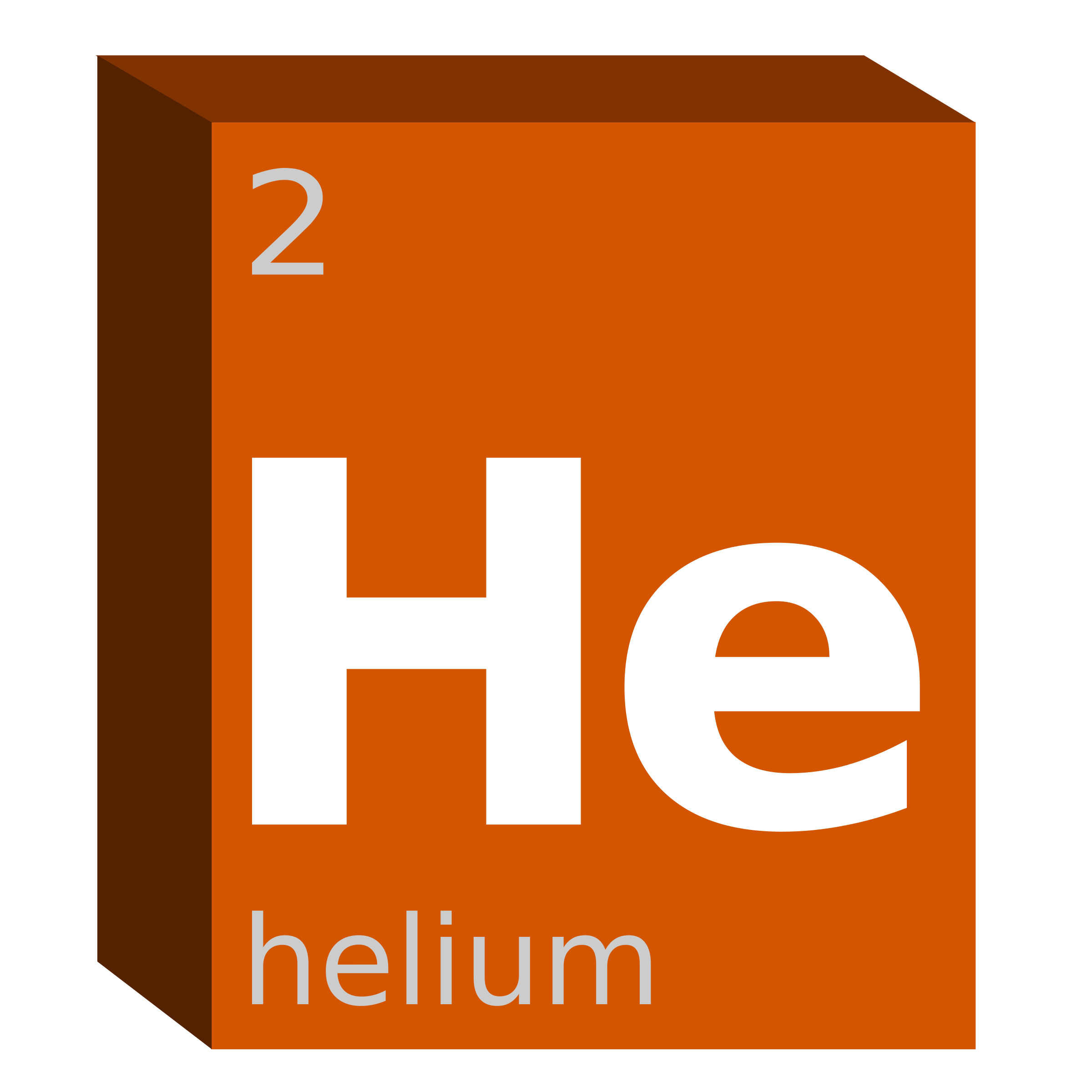 Element clipart ornamental Block Chemistry (He) Helium Helium